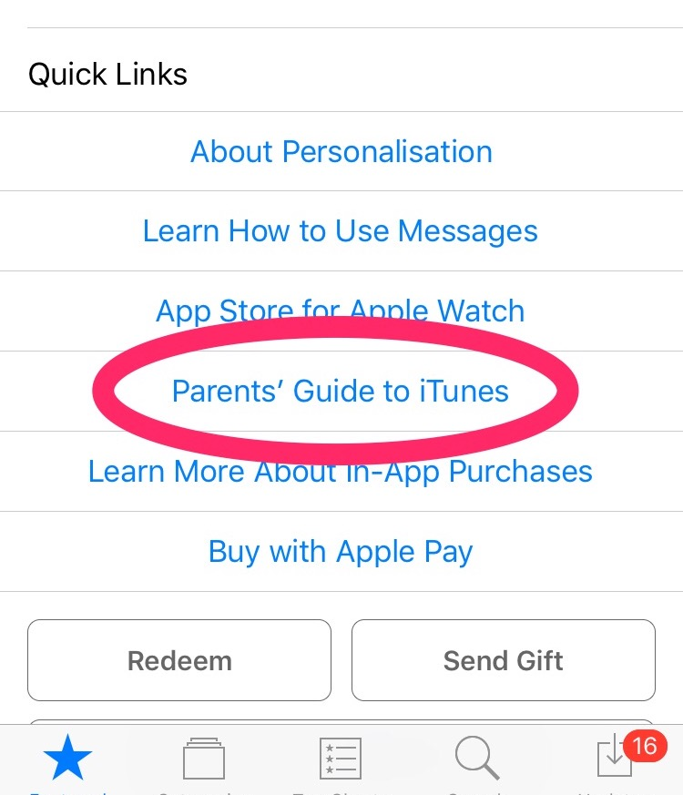 iOS Parent Advice